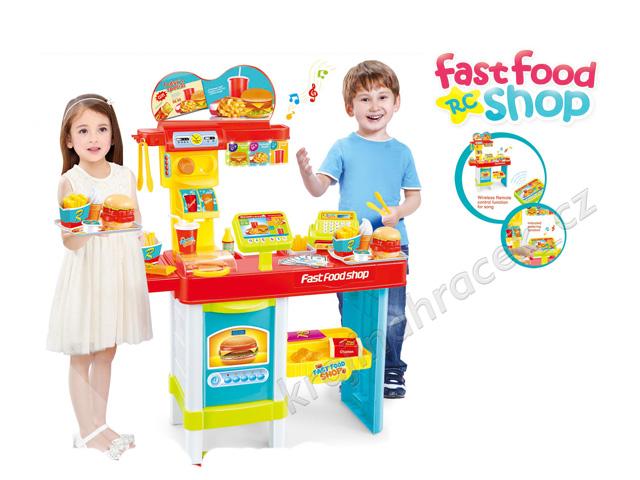 Dětský obchod stánek rychlé občerstvení na baterie