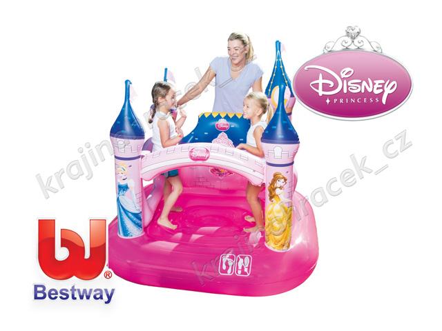 Dětský nafukovací hrad zámek pro princezny Disney