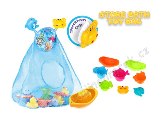Velká sada plastové hračky do vody se síťovkou