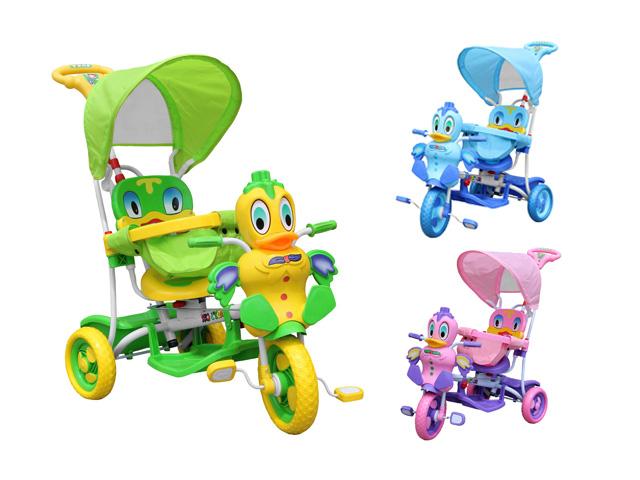 Dětské kolo interaktivní tříkolka kačenka pěnová kola EVA