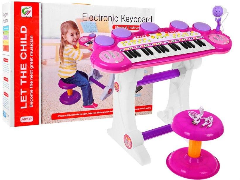 Velké dětské klávesy piáno s bubny USB