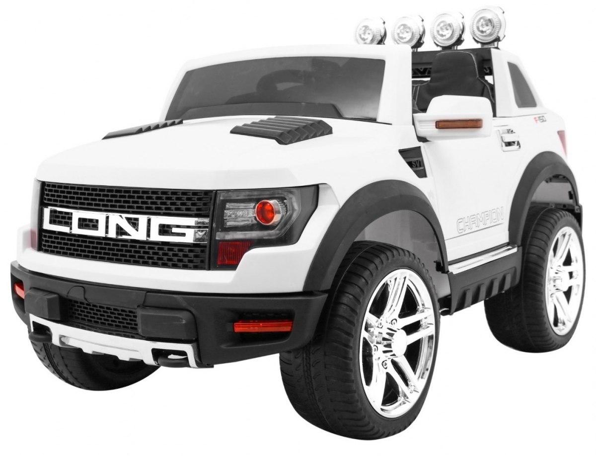 RkToys LONG dětské elektrické auto - Bílá