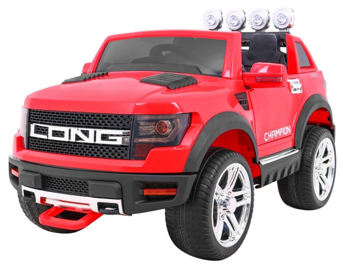 RkToys LONG dětské elektrické auto - Červená