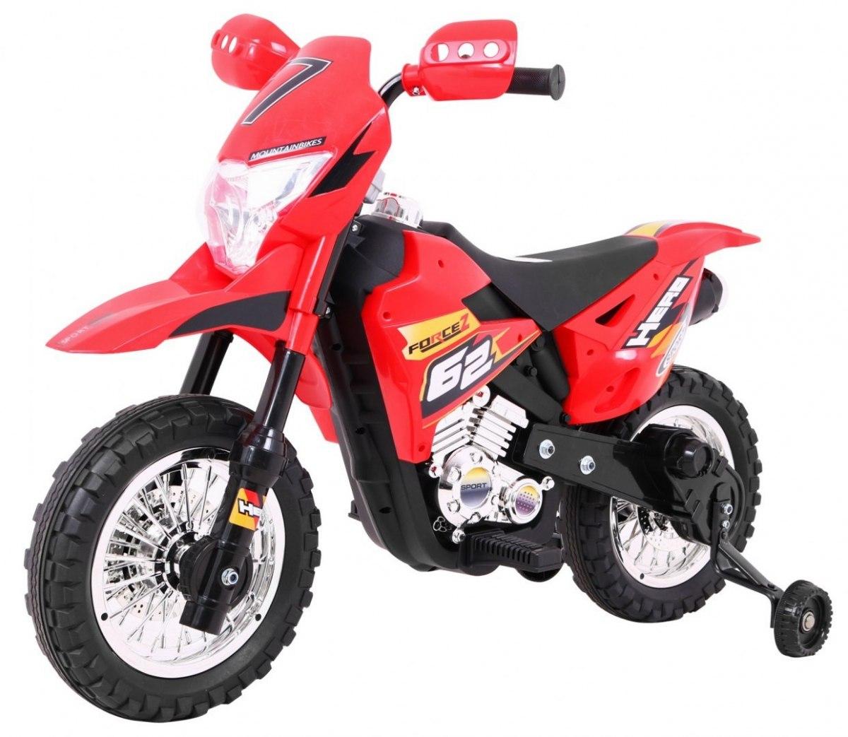 Dětská elektrická motorka CROSS - Červená