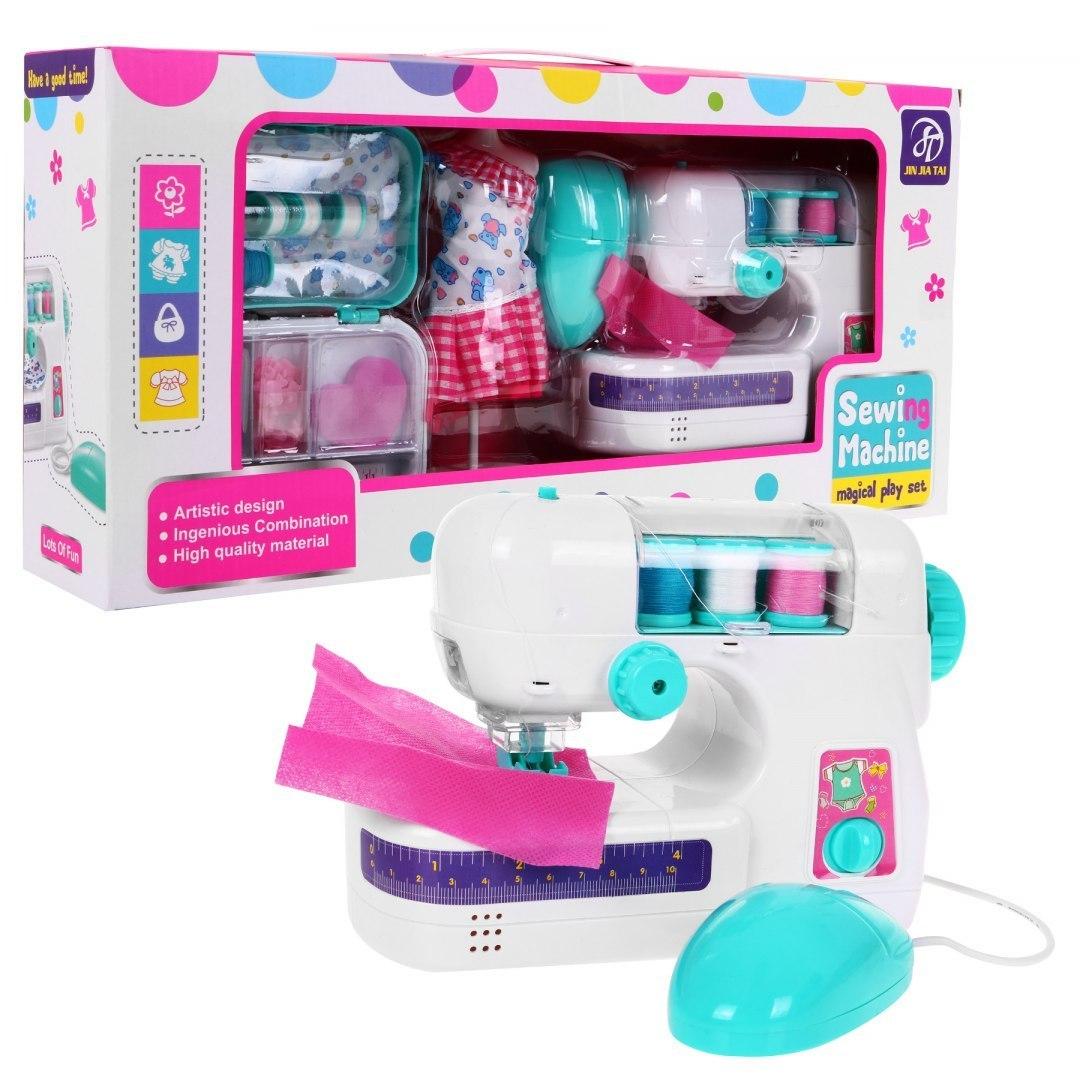Dětský šicí stroj s doplňky pro dívky
