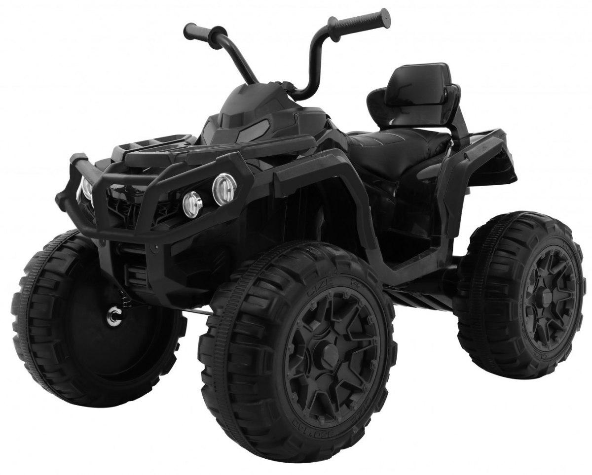 Elektrická čtyřkolka ATV s dálkovým ovládáním - černá