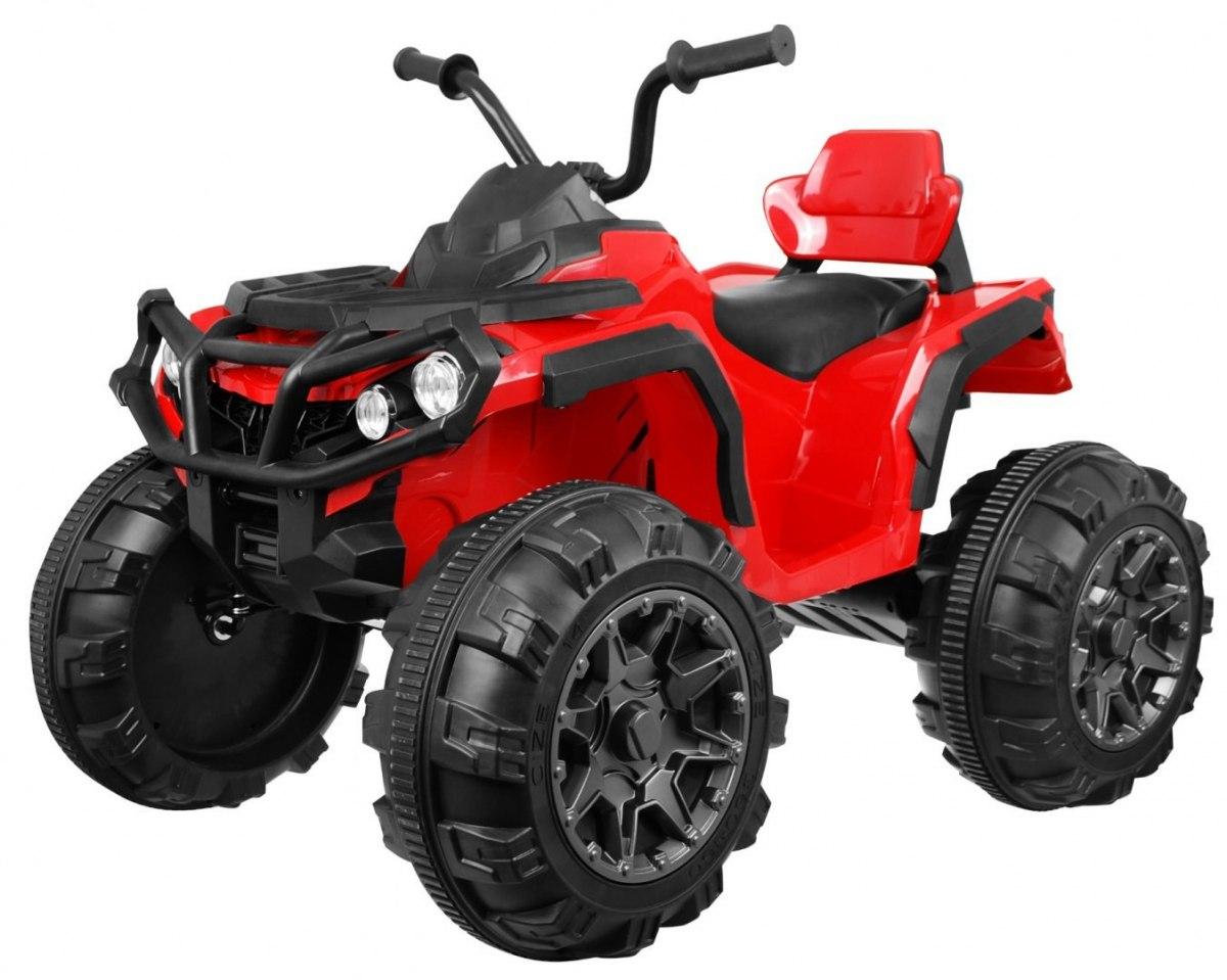 Elektrická čtyřkolka ATV s dálkovým ovládáním - červená