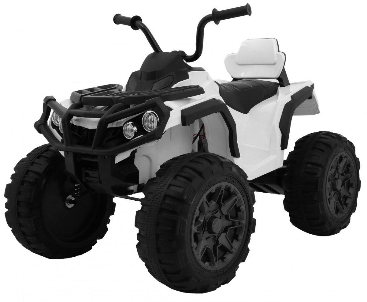 Elektrická čtyřkolka ATV s dálkovým ovládáním - bílá