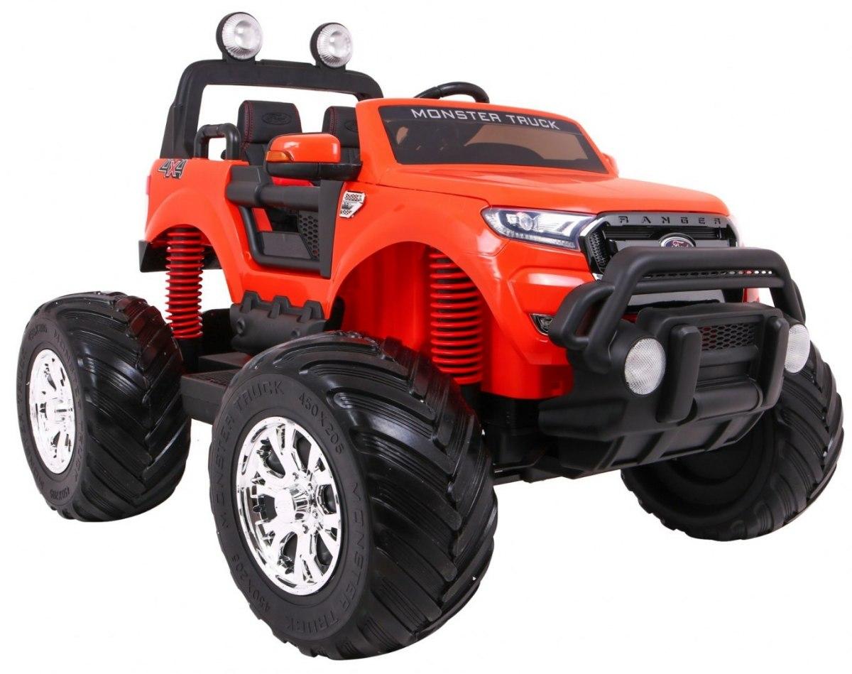 Ford Ranger Monster dětské elektrické auto 4x4 - Oranžová