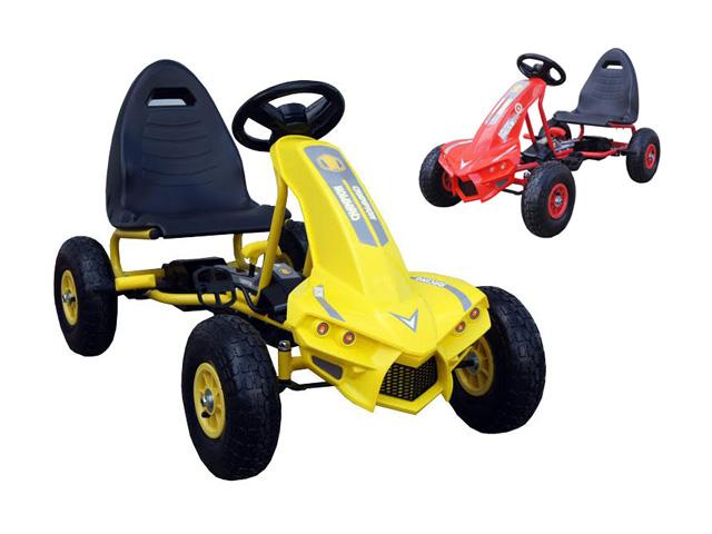 Dětské šlapací vozítko šlapadlo motokára nafukovací kola