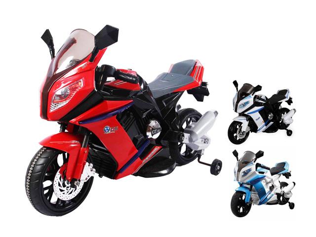Velká dětská elektrická motorka 2 motory pěnová kola