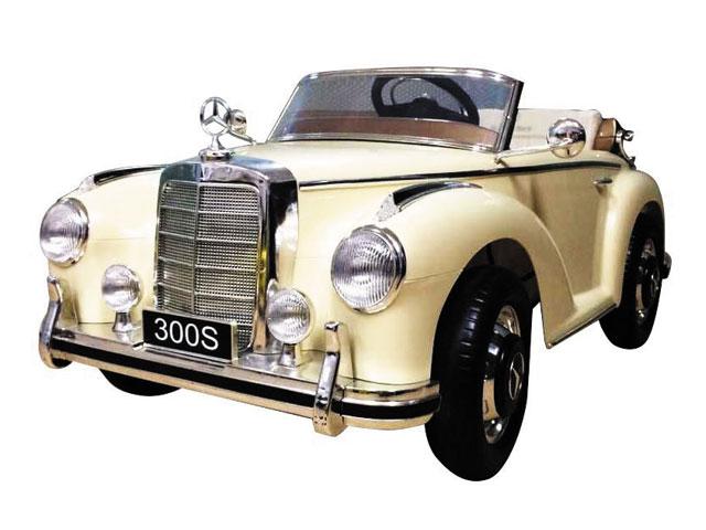 Dětské elektrické auto mercedes benz 300S retro