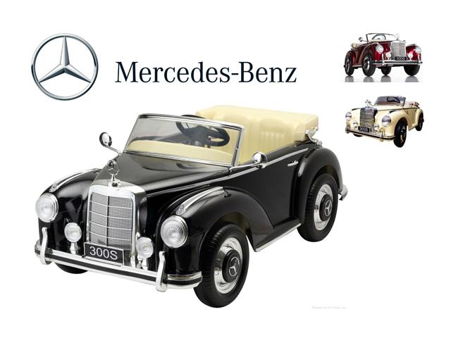 Dětské elektrické auto mercedes benz 300S retro lakovaný