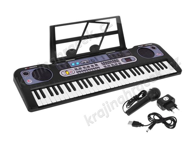 Elektronické klávesy keyboard varhany + mikrofon USB