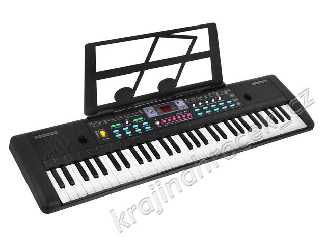 Přenosné klávesy keyboard + mikrofon + usb + adaptér