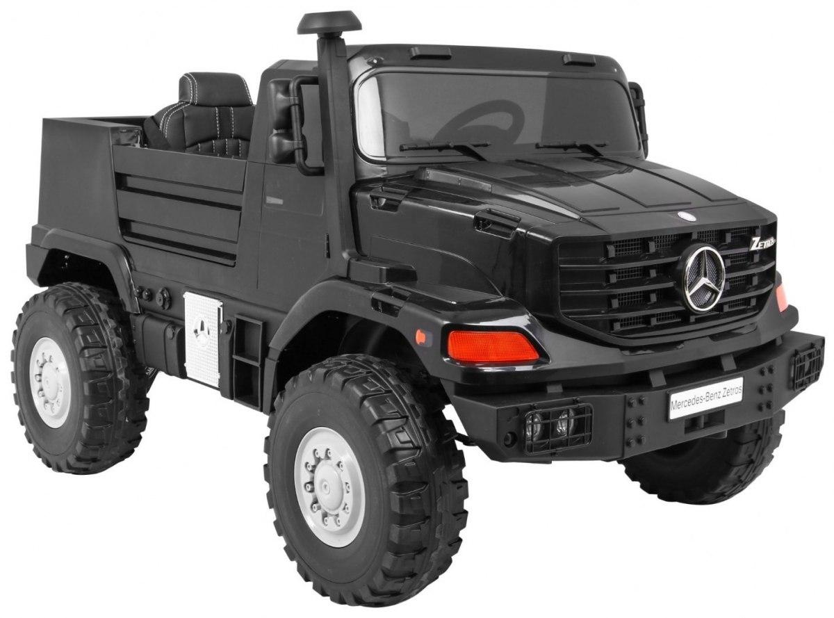 Mercedes-Benz Zetros dětské elektrické auto - Černá