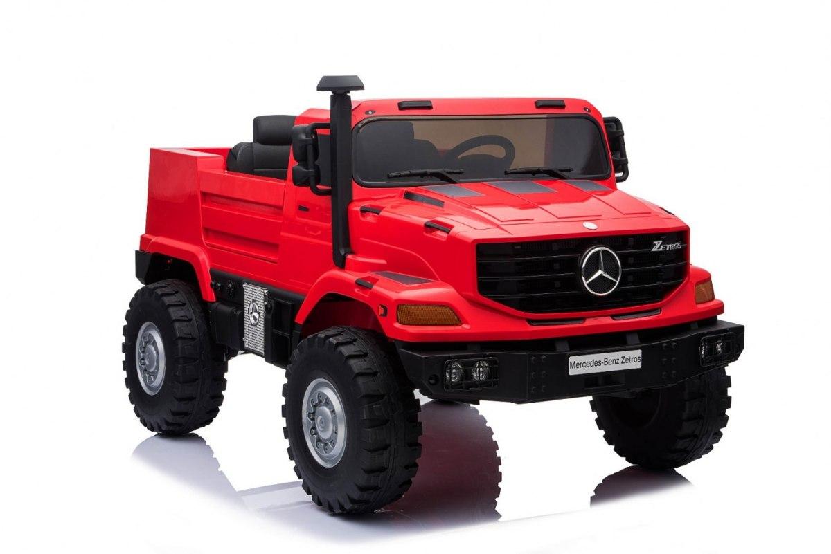 Mercedes-Benz Zetros dětské elektrické auto - Červená