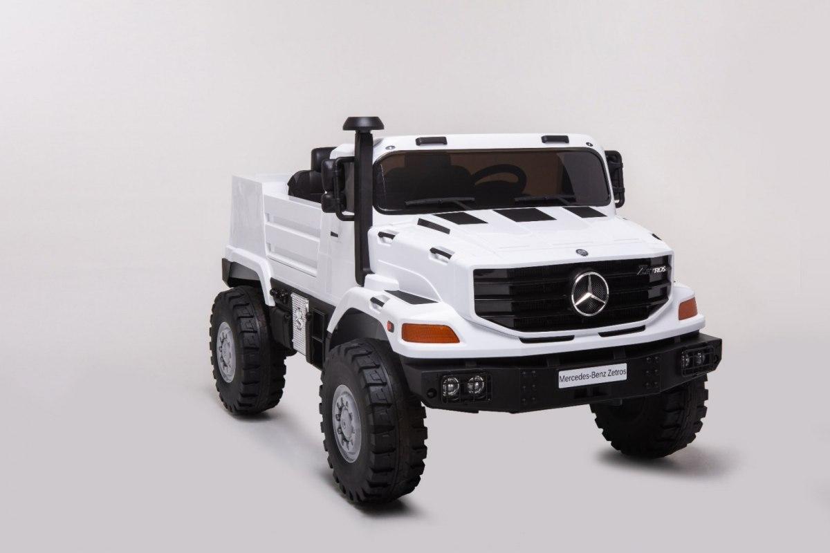 Mercedes-Benz Zetros dětské elektrické auto - Bílá