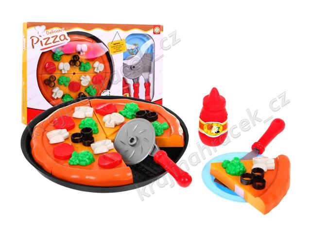 Pizza sada do dětské kuchyňky obchodu + kuchařské doplňky