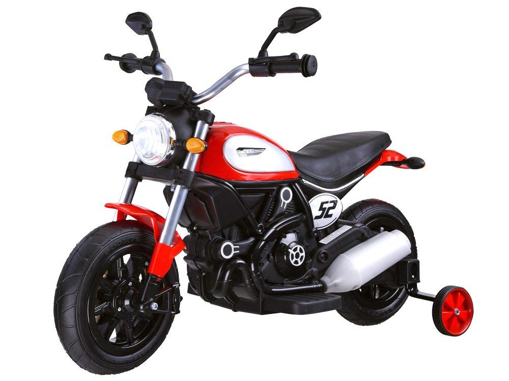 Dětská elektrická motorka Street Bob Red
