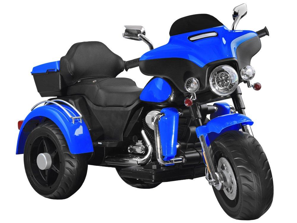 Dětská elektrická motorka Chopper Blue