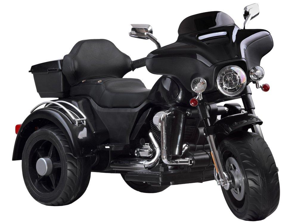 Dětská elektrická motorka Chopper Black