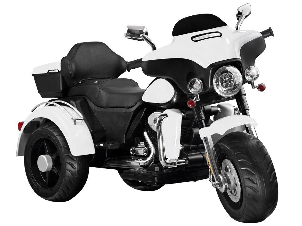 Dětská elektrická motorka Chopper White