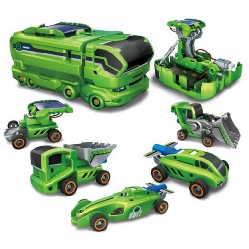 Eko hračka solární robot 7 v 1 auta stavebnice