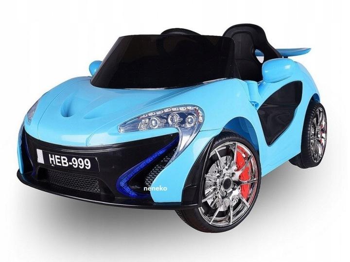 Sportovní dětské elektrické auto - modrá