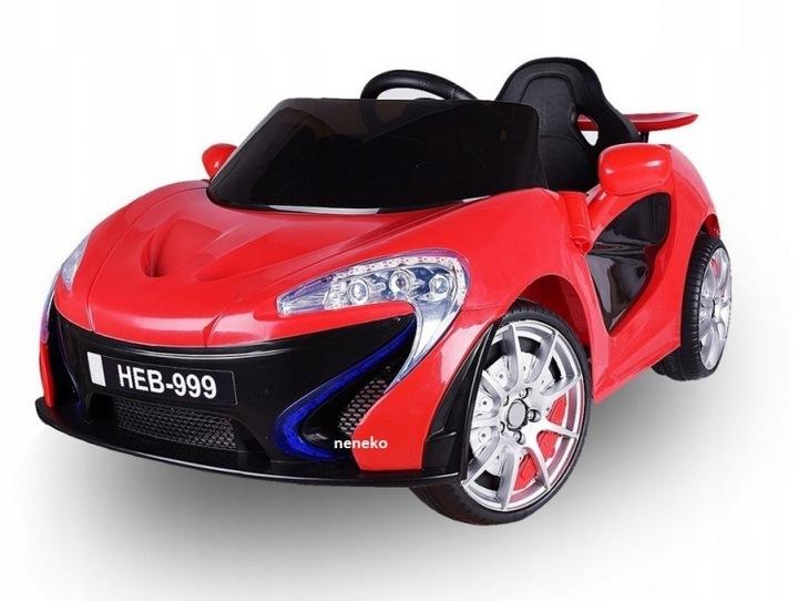 Sportovní dětské elektrické auto - Červená