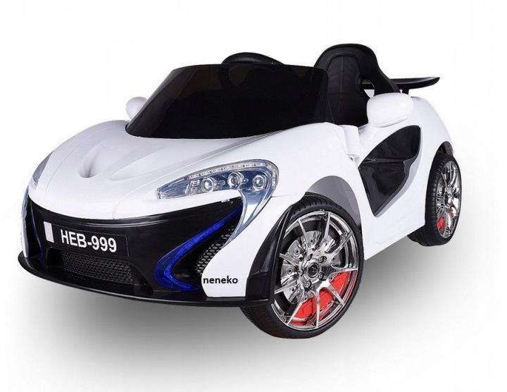 Sportovní dětské elektrické auto - Bílá