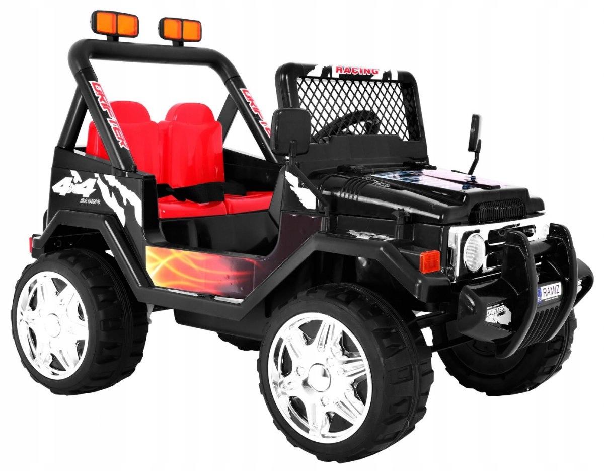 Elektrické auto Jeep RAPTOR - Černá
