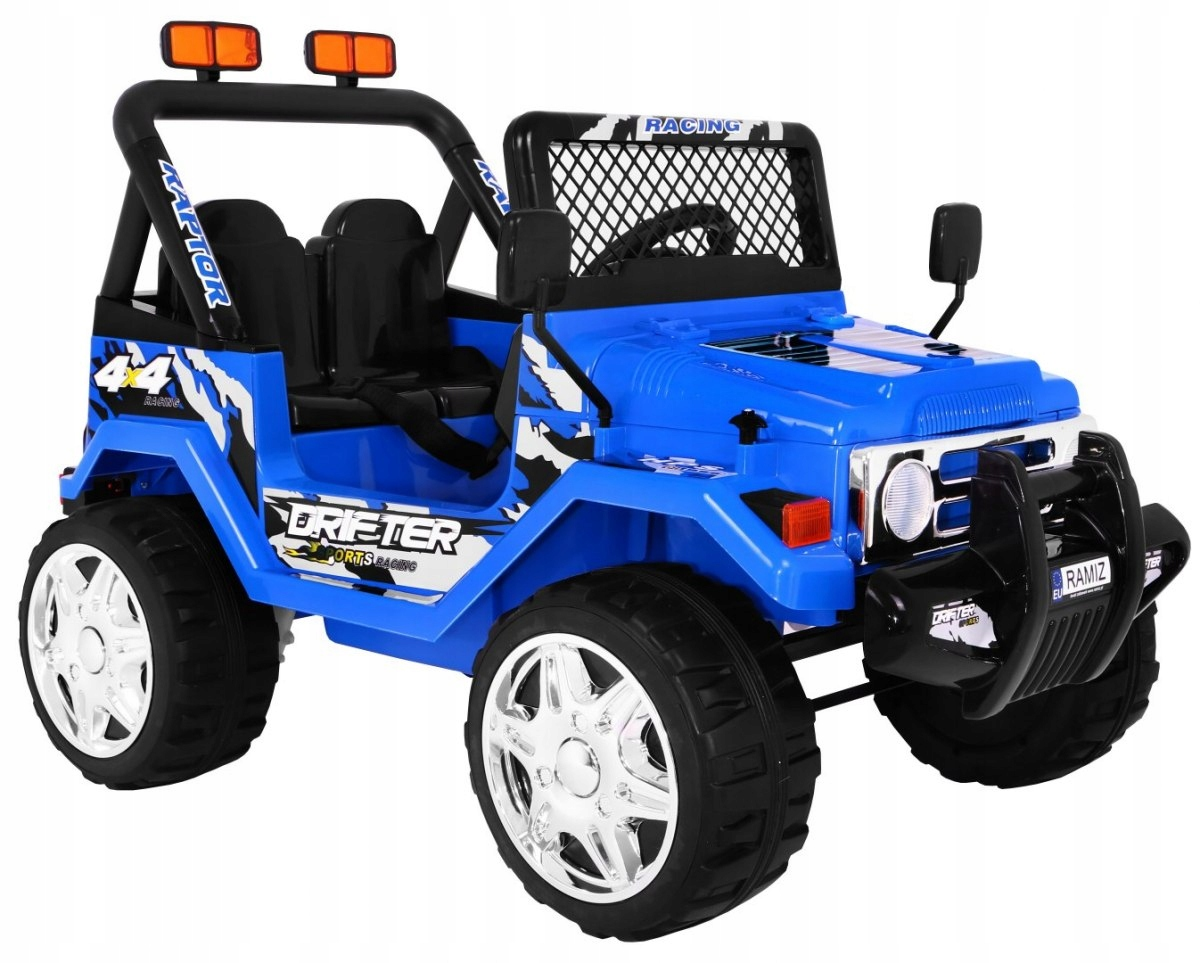 Elektrické auto Jeep RAPTOR - Modrá