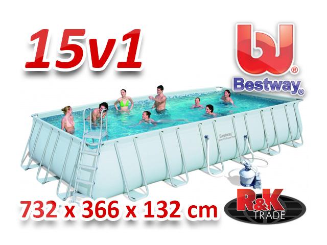 Bestway bazén 732 x 366 x 132 cm 15 v 1 56475