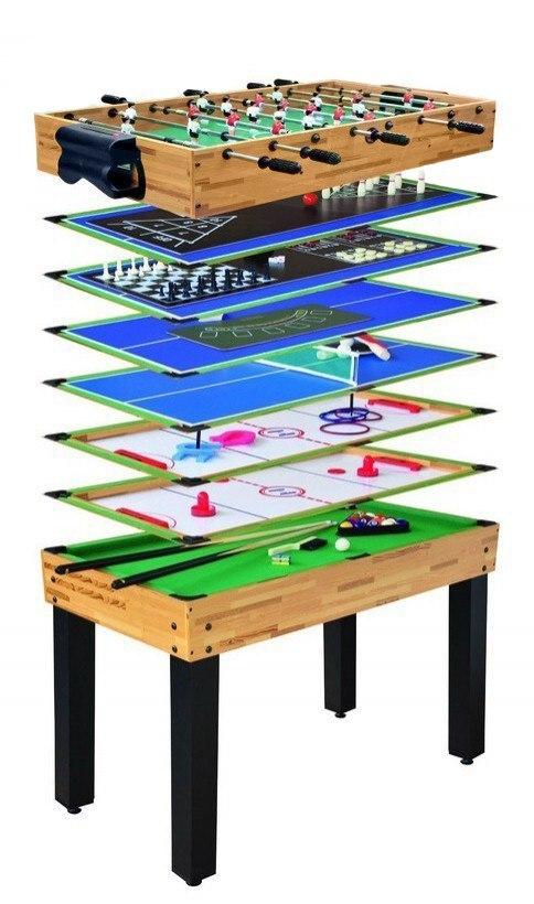 Velký herní stůl 12 v 1 kulečník fotbálek a další