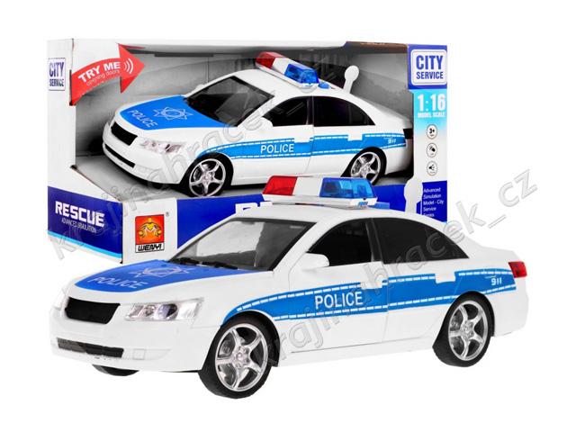 Interaktivní policejní auto policie s otevíratelnými dveřmi 1:16