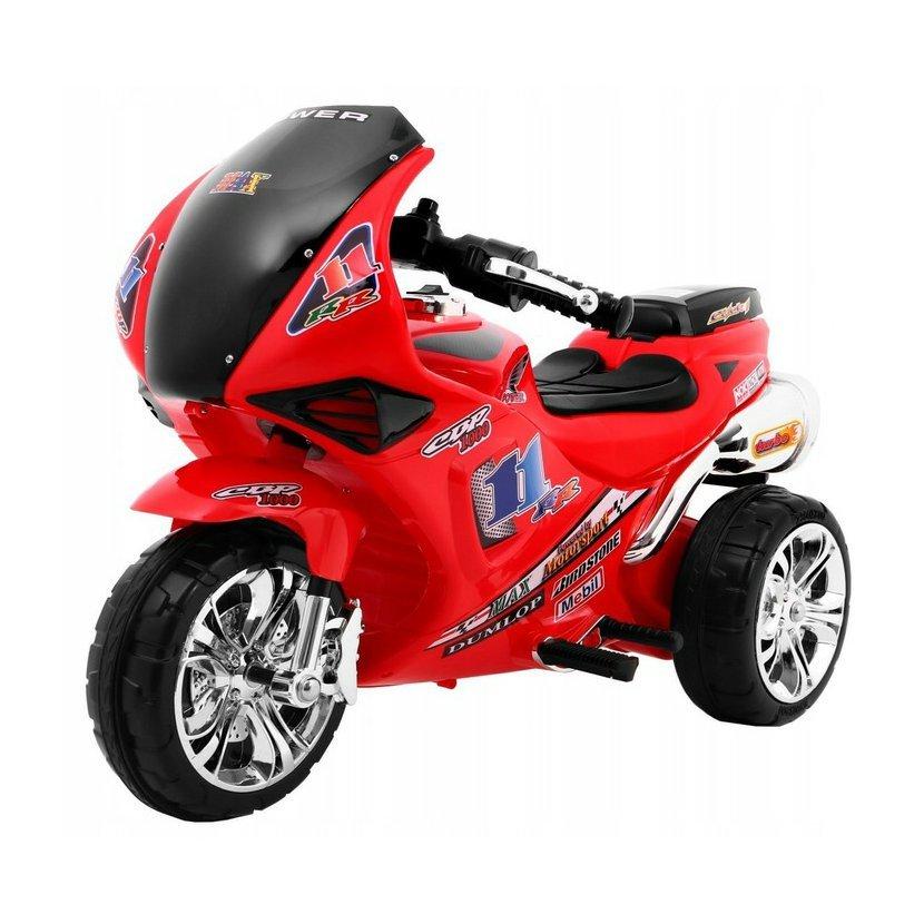 Dětská elektrická motorka s úložným prostorem - Vystaveno