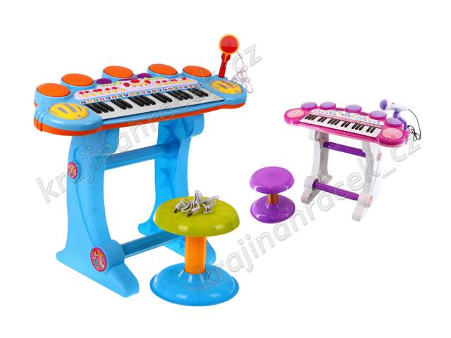Velké dětské klávesy varhánky piáno s bubny USB