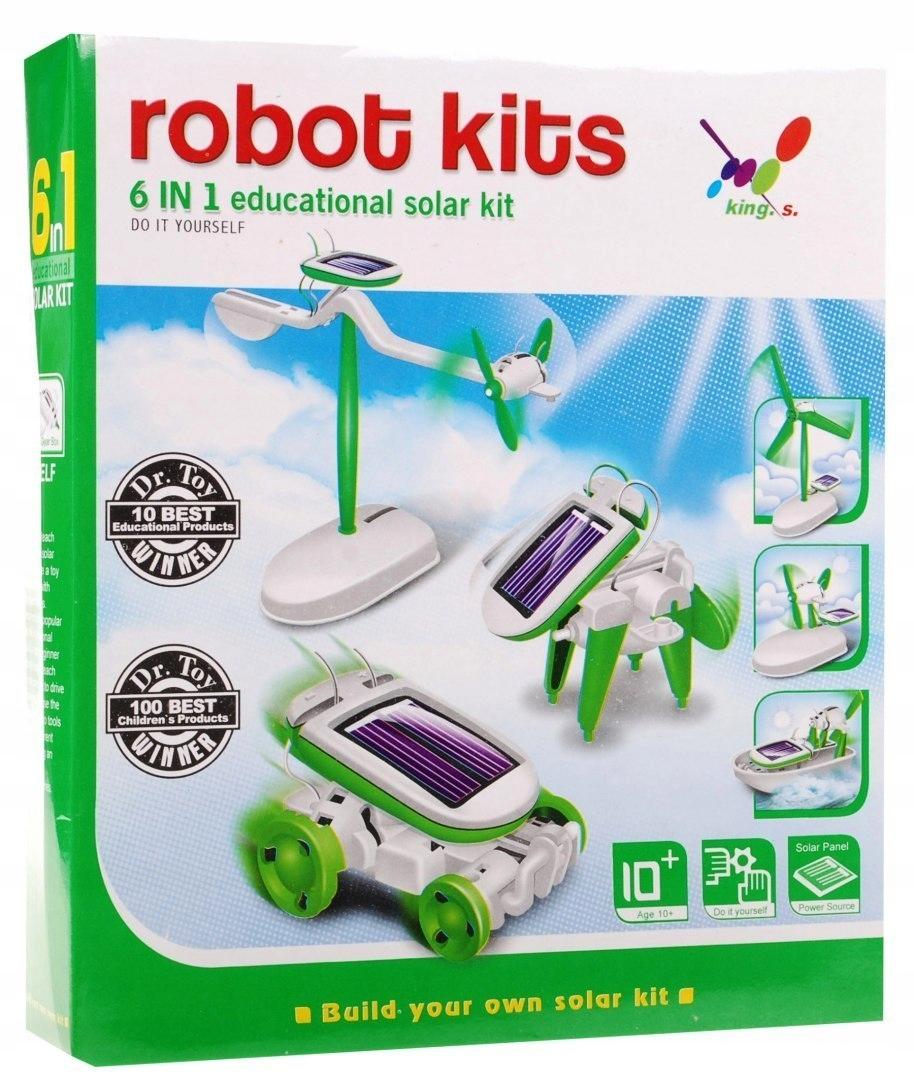 Eko robot KITS hračka solární robot 6 v 1