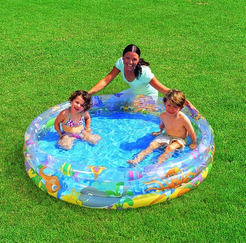 Dětský bazének nafukovací bazén vodní svět + míčky