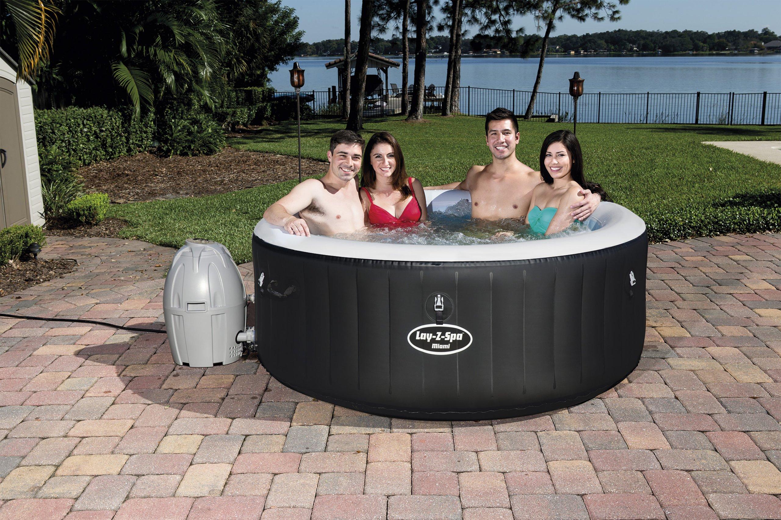 Bestway 54123 bazének bazén 3 v 1 vířivka Lay - Z - Spa Miami AirJet