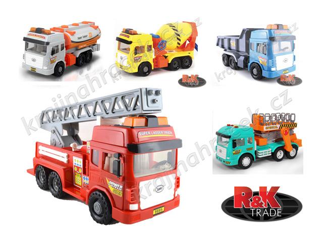 Velká dodávka auto náklaďák cisterna hasiči různé modely