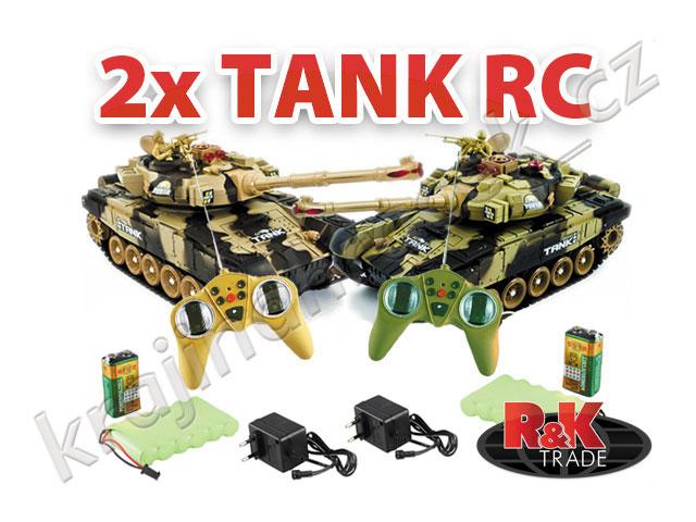 Sada 2 ks - tank na dálkové ovládání R/C