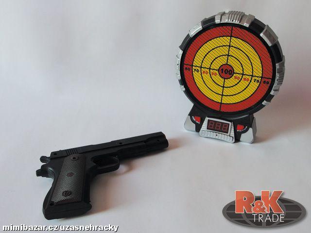 Dětská pistole hračka + kulatý elektronický terč