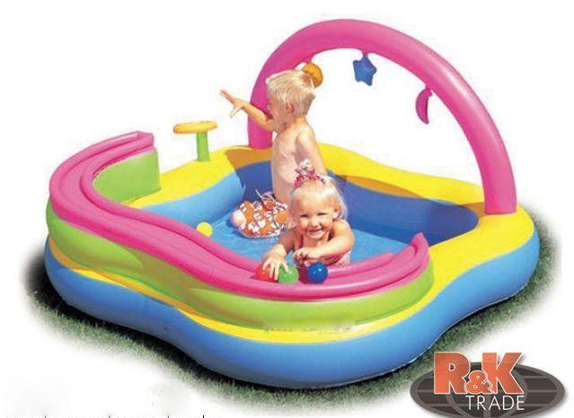 Dětský nafukovací bazének s hrazdičkou 157 x 157 x 89 cm 52125B