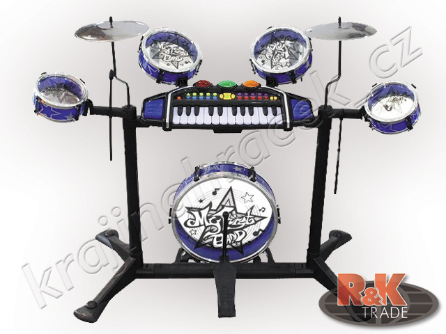 Velká hudební sada bubny + klávesy bicí keyboard piáno