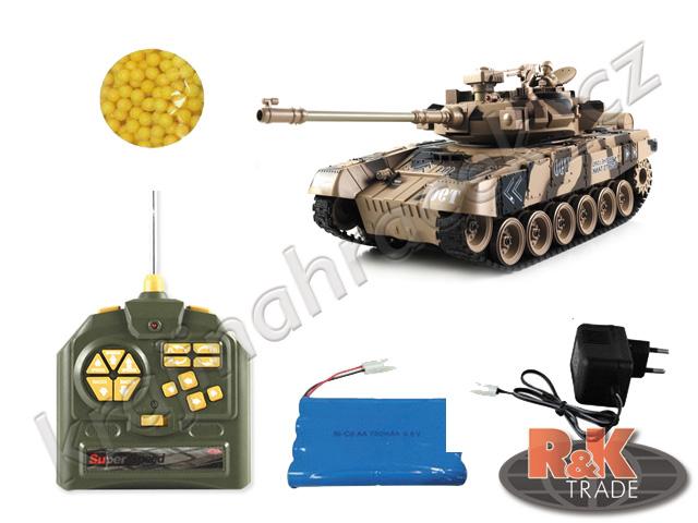Velký tank na dálkové ovládání R/C T90