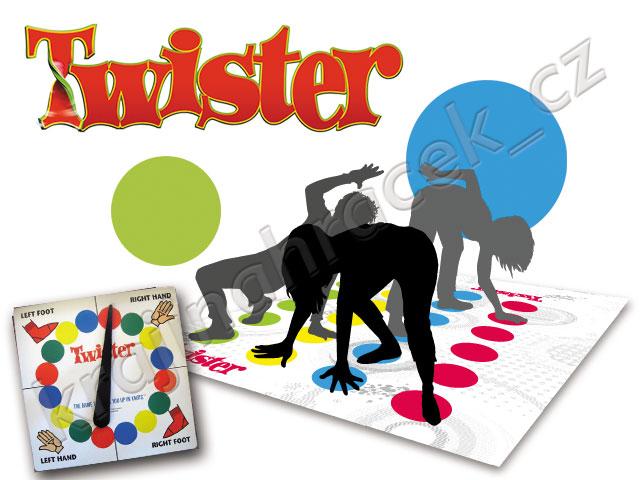 Hra velký TWISTER super oblíbená - nejen pro děti