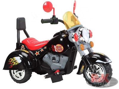 Dětská výkonná elektrická motorka harley