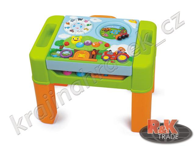 Huile Toys multifunkční dětský stoleček s hrací plochou 6v1